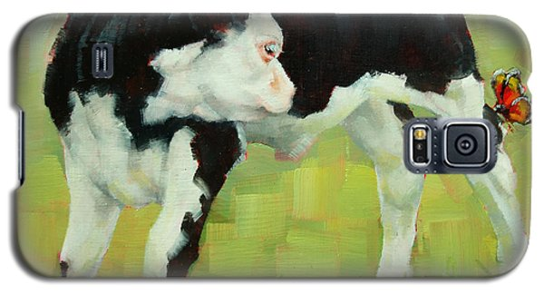 Elly The Calf And Friend Galaxy S5 Case by Margaret Stockdale