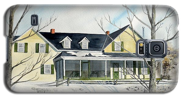 Galaxy S5 Case featuring the painting Elmridge Farm House by Jackie Mueller-Jones