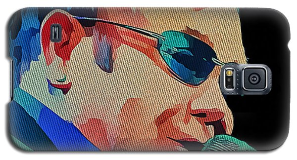 Elton John Blue Eyes Portrait 2 Galaxy S5 Case by Yury Malkov
