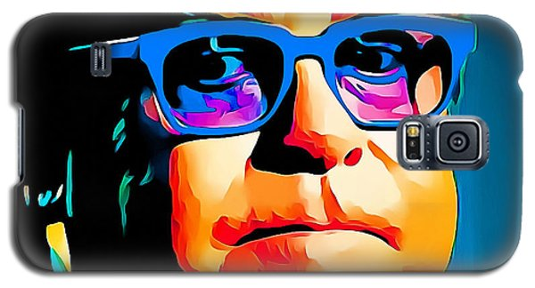 Elton John Blue Eyes Portrait Galaxy S5 Case by Yury Malkov