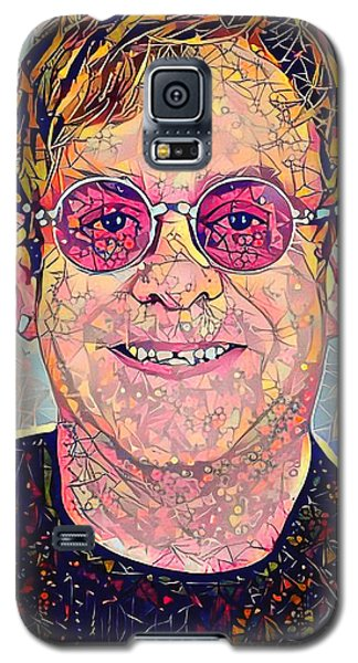 Elton John Triangles Portrait Galaxy S5 Case by Yury Malkov