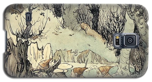 Elves In A Wood Galaxy S5 Case by Arthur Rackham