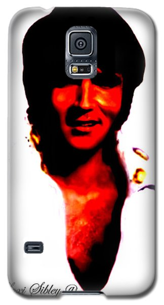 Galaxy S5 Case featuring the mixed media Elvis By Loxi Sibley by Loxi Sibley