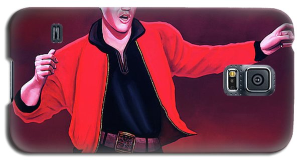 Rhythm And Blues Galaxy S5 Case - Elvis Presley 4 Painting by Paul Meijering