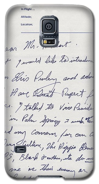 Elvis Presley Letter To President Richard Nixon Galaxy S5 Case