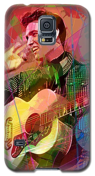 Galaxy S5 Case featuring the painting Elvis Rockabilly  by David Lloyd Glover