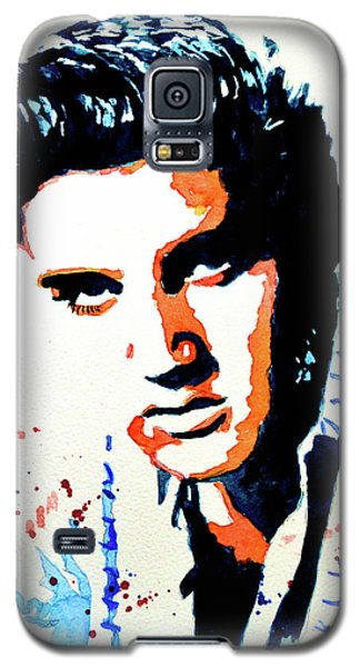 Galaxy S5 Case featuring the painting Elvis by Steven Ponsford