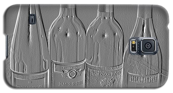 Embossed Wine Bottles Galaxy S5 Case by Donna Bentley