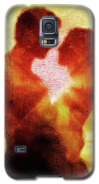 Galaxy S5 Case featuring the digital art Embrace by Andrea Barbieri
