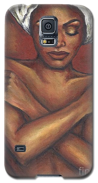 Galaxy S5 Case featuring the painting Embrace Yourself by Alga Washington