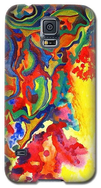 Galaxy S5 Case featuring the painting Embroiled by Polly Castor