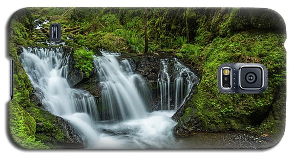 Emeral Falls Waterscape Art By Kaylyn Franks Galaxy S5 Case