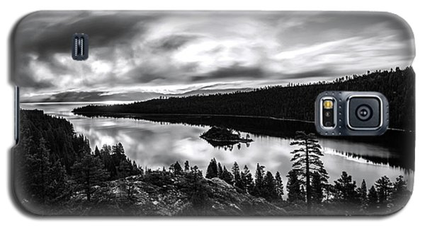 Galaxy S5 Case featuring the photograph Emerald Bay Black And White by Brad Scott