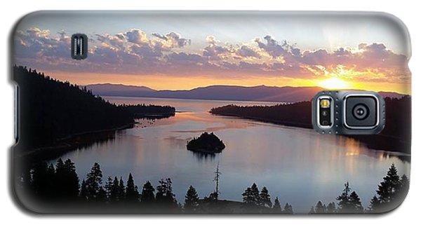 Galaxy S5 Case featuring the photograph Emerald Bay Sunrise by Carol Duarte