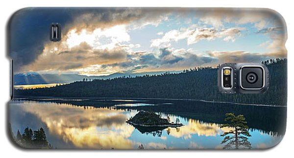 Galaxy S5 Case featuring the photograph Emerald Bay Sunrise Rays by Brad Scott