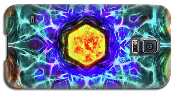 Emerald Circle Mandala Galaxy S5 Case by Yulia Kazansky