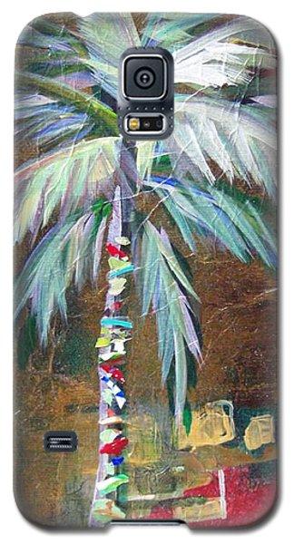 Emerald Fire Palm  Galaxy S5 Case