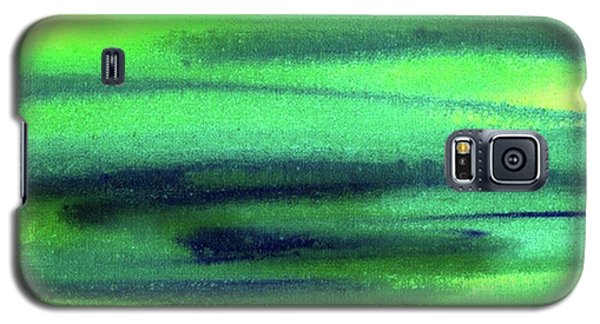 Emerald Flow Abstract Painting Galaxy S5 Case by Irina Sztukowski