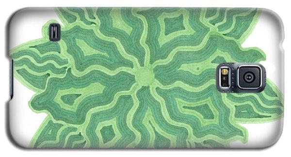 Emerald Flower Galaxy S5 Case