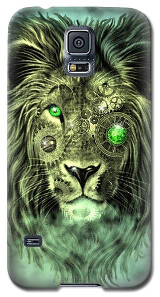 Emerald Steampunk Lion King Galaxy S5 Case