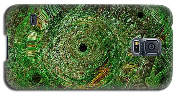 Galaxy S5 Case featuring the photograph Emerald Swirls by Kathie Chicoine