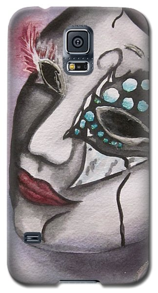 Galaxy S5 Case featuring the painting Emerging Frenzy by Teresa Beyer