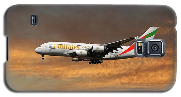 Jet Galaxy S5 Case - Emirates Airbus A380-861 3 by Smart Aviation