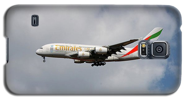 Jet Galaxy S5 Case - Emirates Airbus A380-861 5 by Smart Aviation