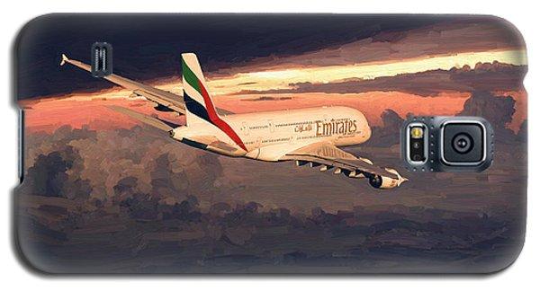 Emirates Airbus A380 Above Dubai Galaxy S5 Case