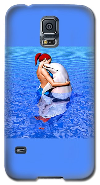 Galaxy S5 Case featuring the painting Emissaries by Robby Donaghey
