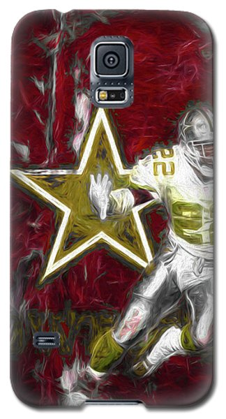 Galaxy S5 Case featuring the photograph Emmitt Smith Nfl Dallas Cowboys Gold Digital Painting 22 by David Haskett