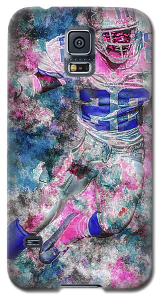 Galaxy S5 Case featuring the photograph Emmitt Smith Nfl Football Painting Digital  Es22 One by David Haskett