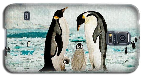 Emperor Penguin Family Galaxy S5 Case