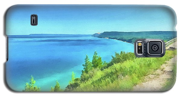 Galaxy S5 Case featuring the digital art Empire Bluffs  by Digital Photographic Arts