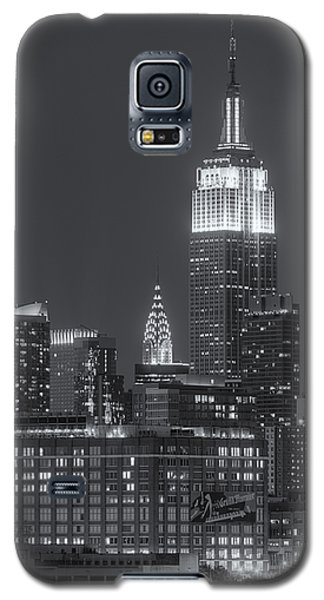 Empire State And Chrysler Buildings At Twilight II Galaxy S5 Case