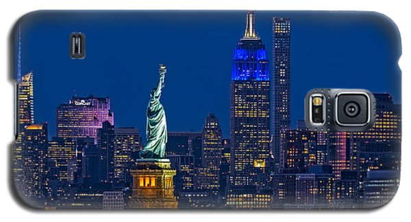Empire State And Statue Of Liberty II Galaxy S5 Case