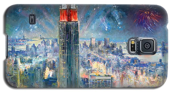 Empire State Building Galaxy S5 Case - Empire State Building In 4th Of July by Ylli Haruni