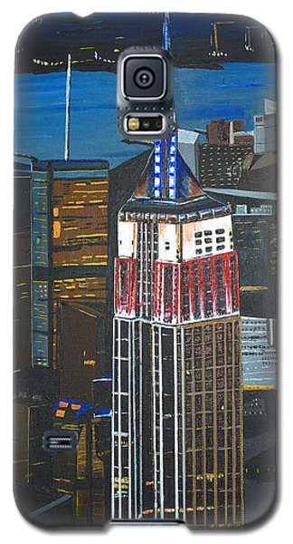 Galaxy S5 Case featuring the painting Empire State by Donna Blossom