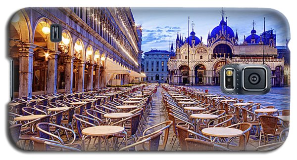 Empty Cafe On Piazza San Marco - Venice Galaxy S5 Case