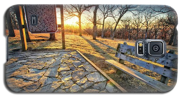 Galaxy S5 Case featuring the photograph Empty Park Bench - Sunset At Lapham Peak by Jennifer Rondinelli Reilly - Fine Art Photography