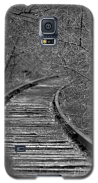 Galaxy S5 Case featuring the photograph Empty Tracks by Juls Adams