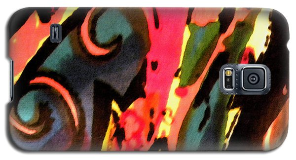 Galaxy S5 Case featuring the mixed media En Joy by Sandi OReilly