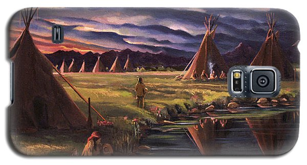 Encampment At Dusk Galaxy S5 Case