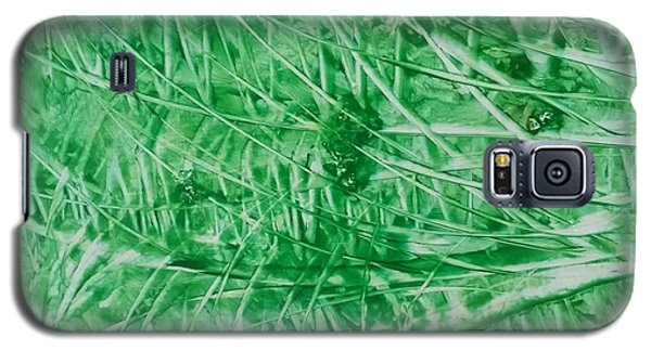 Encaustic Abstract Green Foliage Galaxy S5 Case