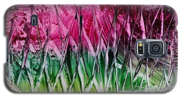 Encaustic Abstract Pinks Greens Galaxy S5 Case