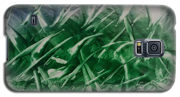 Encaustic Green Foliage With Some Blue Galaxy S5 Case