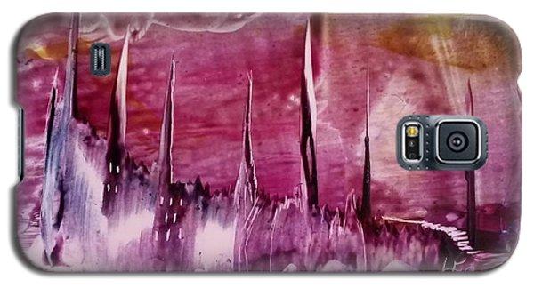 Encaustic Purple-pink Abstract Castles Galaxy S5 Case