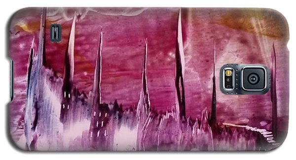 Encaustic Purple-pink Abstract Castles Galaxy S5 Case