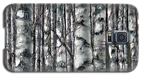 Enchanted Forest -black And White Galaxy S5 Case
