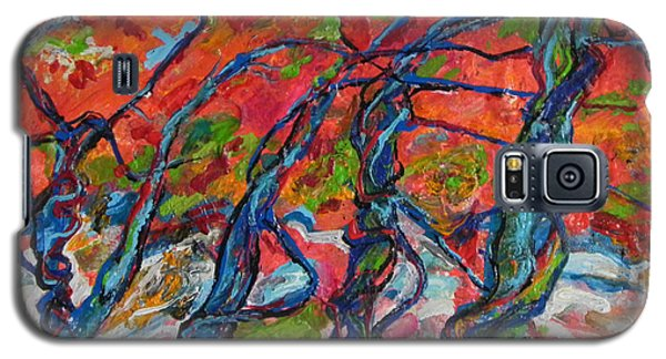 Galaxy S5 Case featuring the painting Enchanted Forest by Koro Arandia